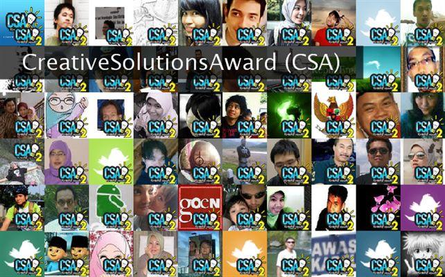 CreativeSolutionsAward (CSA) Twibute 100