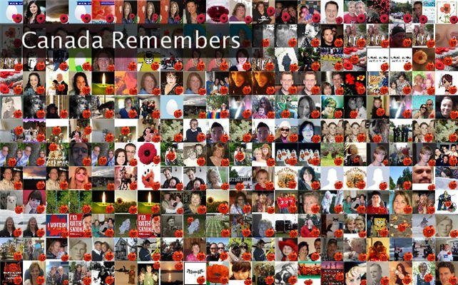 Canada Remembers Twibute 250
