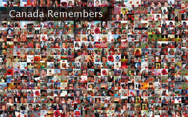 Canada Remembers Twibute 500