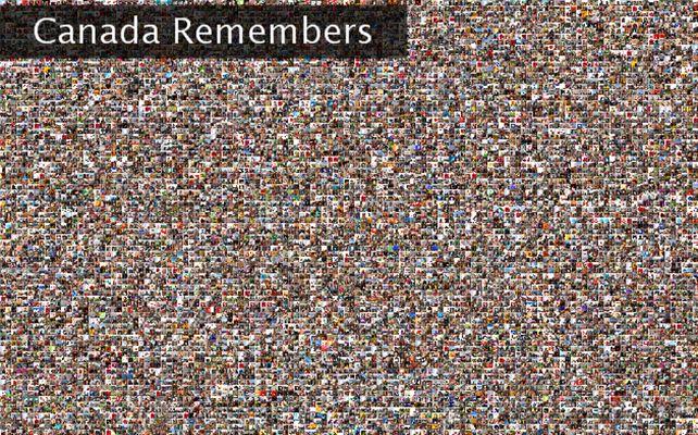 Canada Remembers Twibute 10000