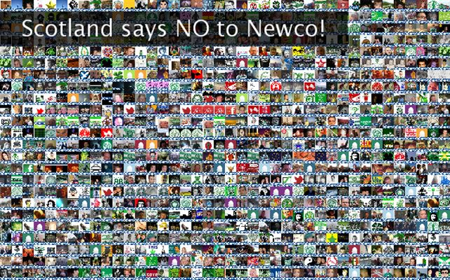 Scotland says NO to Newco! Twibute 1000