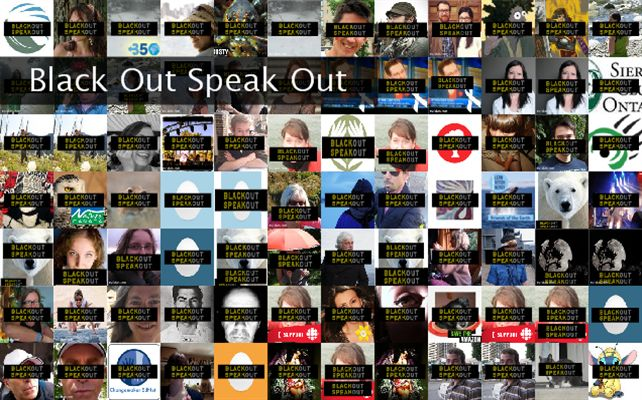 Black Out Speak Out Twibute 100