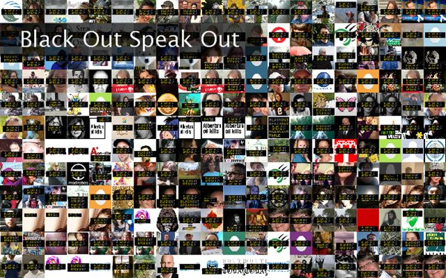 Black Out Speak Out Twibute 250