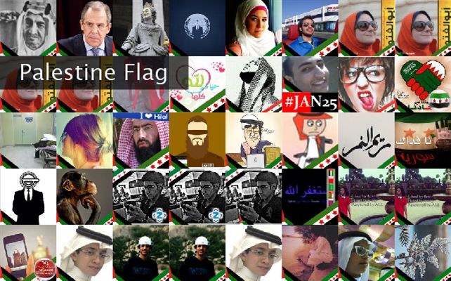 Palestine Flag Twibute 50