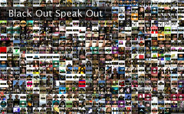 Black Out Speak Out Twibute 500