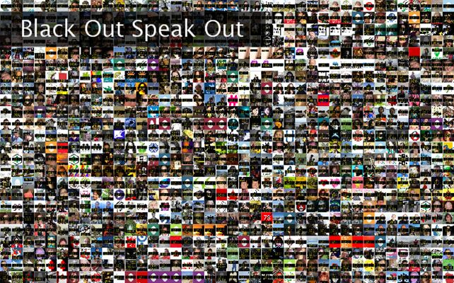 Black Out Speak Out Twibute 1000