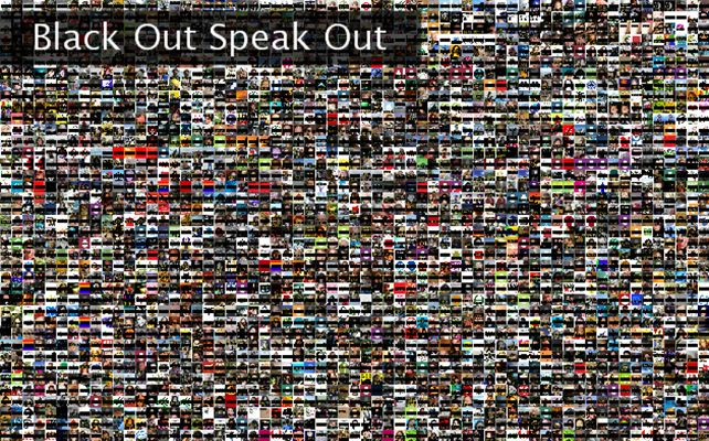 Black Out Speak Out Twibute 2500
