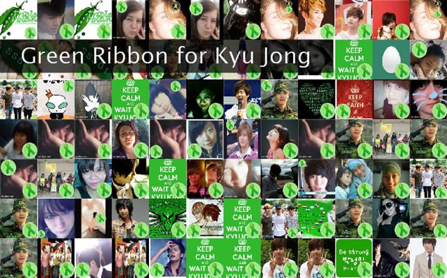 Green Ribbon for Kyu Jong  Twibute 100