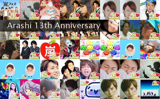 Arashi 13th Anniversary  Twibute 50