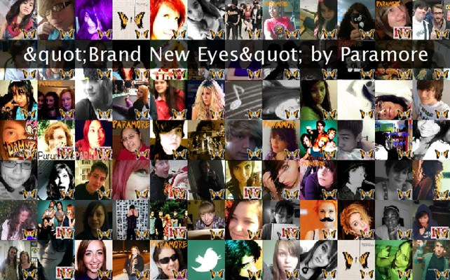 """Brand New Eyes"" by Paramore Twibute 100"