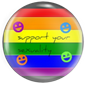 GLBTQS support ribbon