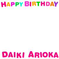 Happy Birthday Daiki Arioka