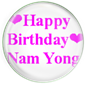 Happy Birthday Nam Yong !