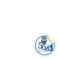 AUF 50 Years (sticker)