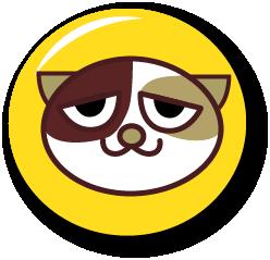 三毛猫ホームズ応援バッチ