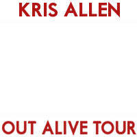 Kris Allen's Out Alive Tour (red/white)