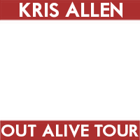 Kris Allen's Out  Alive Tour (white/red)